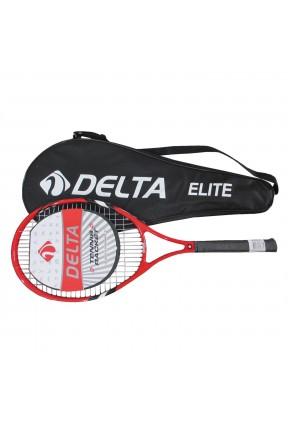 Delta Elite Tek Parça Çantalı 27inc Tenis Raketi KIRMIZI L2 ELITE-L2
