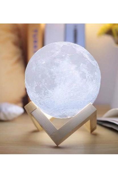 Dokunduğunda Renk Değişen 3D Ay Şeklinde Lamba