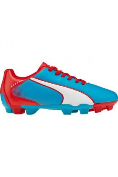 Puma Kampon Ayakkabı-103419-04-Adreno FG Jr Mavi-Beyaz-Kırmızı