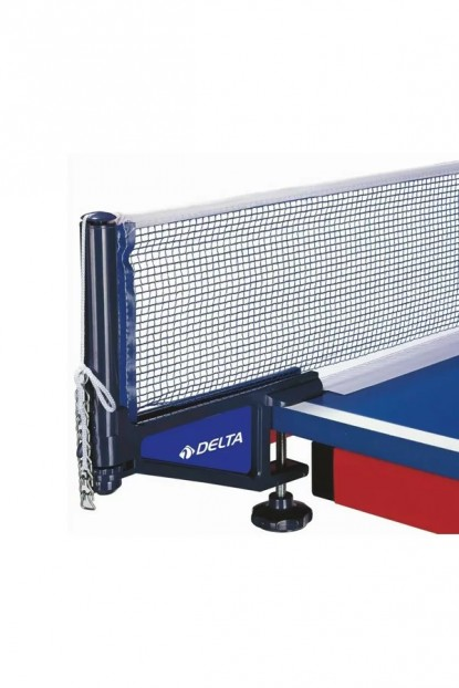 Delta Mavi Masa Tenisi Mengeneli Deluxe Pinpon Ağı File Demir Set DS 104