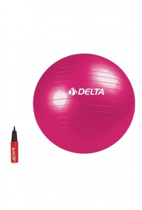 Delta 65 cm Fuşya Deluxe Pilates Topu + 25 cm Çift Yönlü Pompa DS 6509