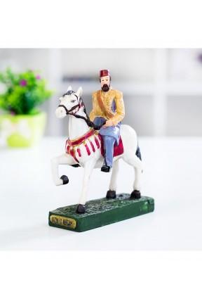 At Üzerinde Sultan 2.Abdülhamid Osmanlı Biblo
