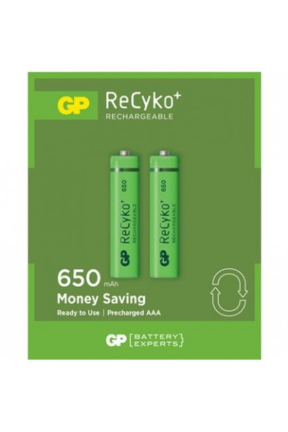 GP 2'li ReCyko 650 Serisi NiMH AAA İnce Kalem Boy Şarjlı