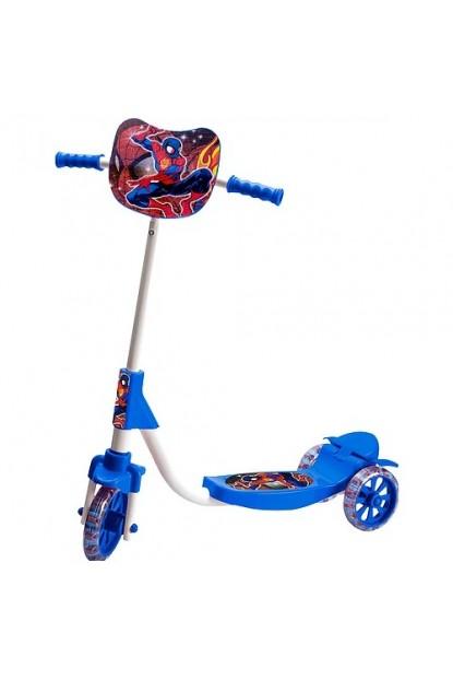 Beren Şeffaf Silikon Tekerlekli Frenli Spiderman Figürlü Çocuk Scooter
