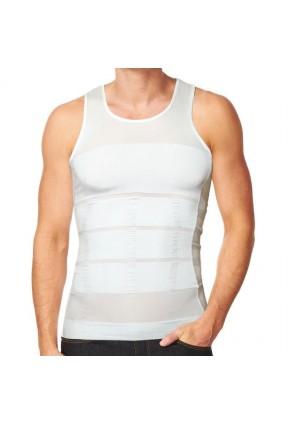 Slim N Lift Beyaz Atlet Erkek Korsesi (İnce Gösteren Atlet)