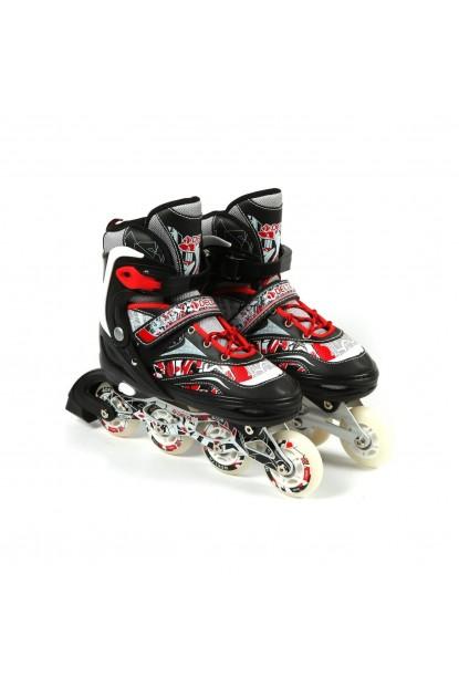 Delta RSC 59 Inline Skate Silikon Teker Alüminyum Paten Kırmızı