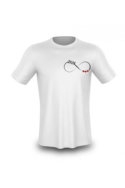 Sonsuzluk İşaretli Beyaz Özel Baskı Tişört