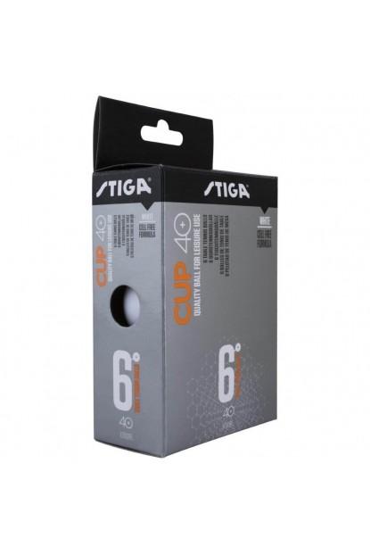 Stiga Cup 40+ 6'lı Eğlence Masa Tenisi Topu Beyaz veya Turuncu