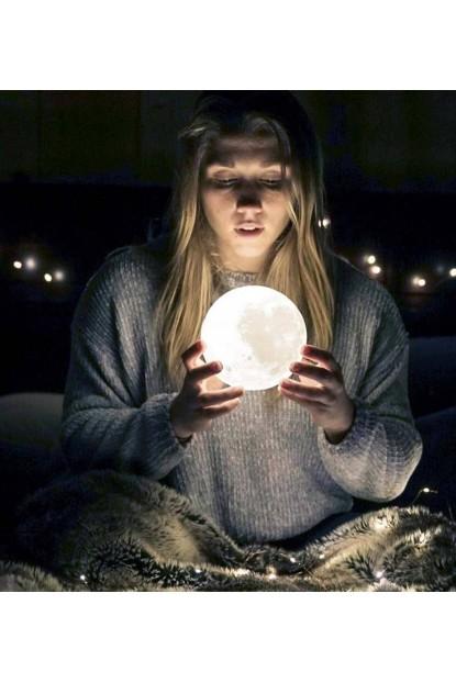 3D Dolunay Şeklinde Gece Lambası 10cm