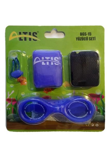 Yüzücü Seti Gözlük, Bone, Burun Mandalı, File Altis BGS-15
